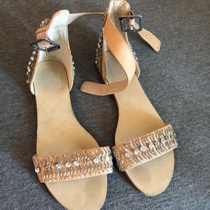Dolce vita jeweled strappy sandals